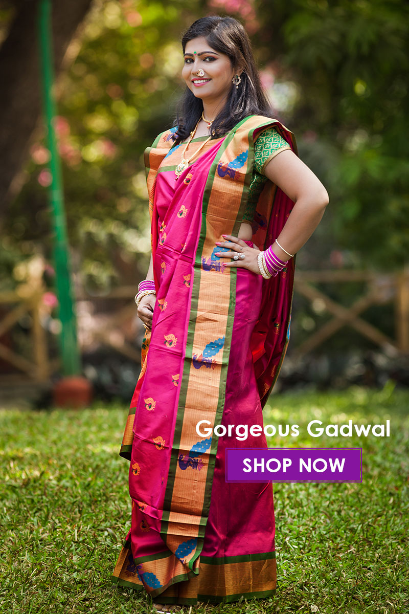 Gadwal silk all over